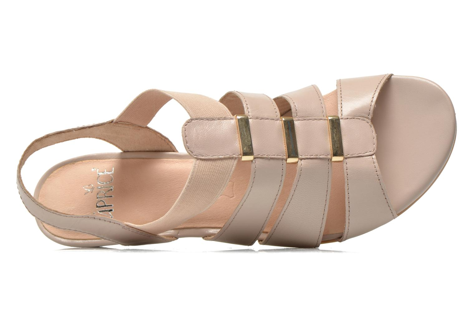 Sandals Caprice Carla Beige view from the left