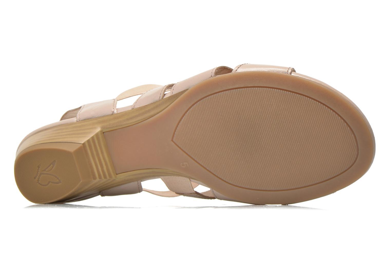Sandales et nu-pieds Caprice Carla Beige vue haut