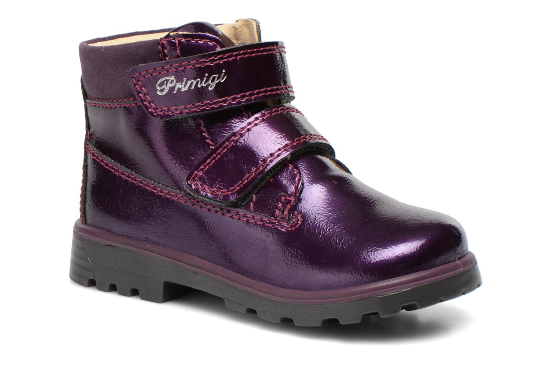 Chaussures à scratch Primigi Buzz Violet vue détail/paire