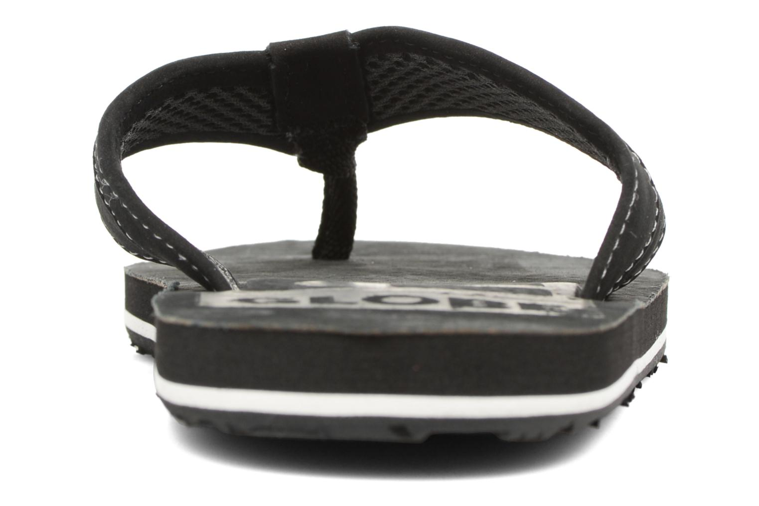 Flip flops Globe Base Black view from the right