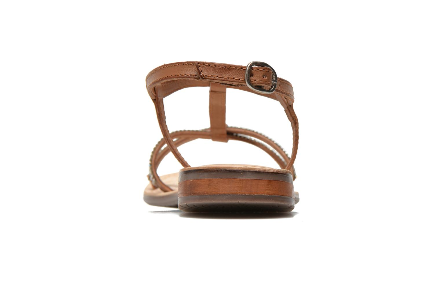 Sandals Dockers Paola Brown view from the right