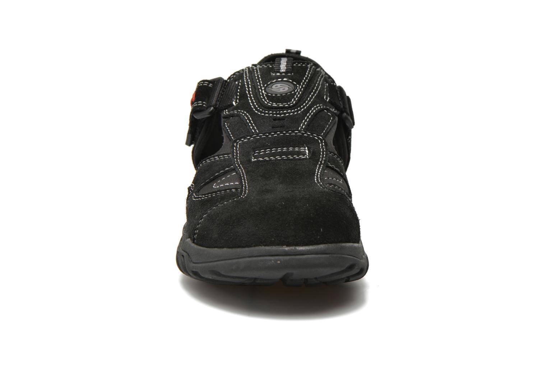 Sandales et nu-pieds Dockers Roger Noir vue portées chaussures