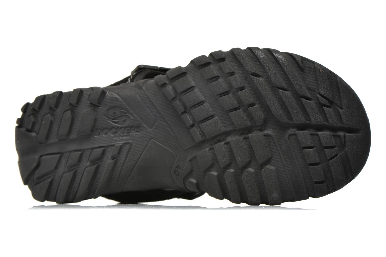 Sandales et nu-pieds Dockers Roger Noir vue haut