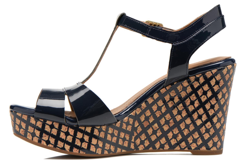 Sandales et nu-pieds Clarks Amelia Roma Bleu vue face