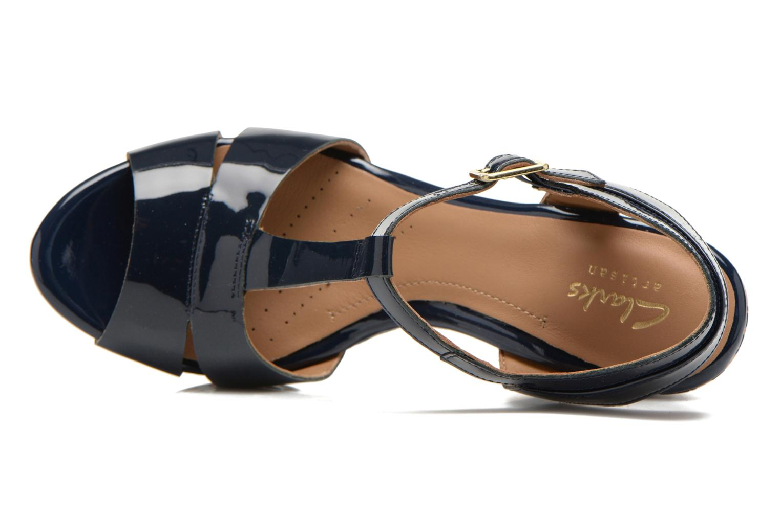 Sandals Clarks Amelia Roma Blue view from the left