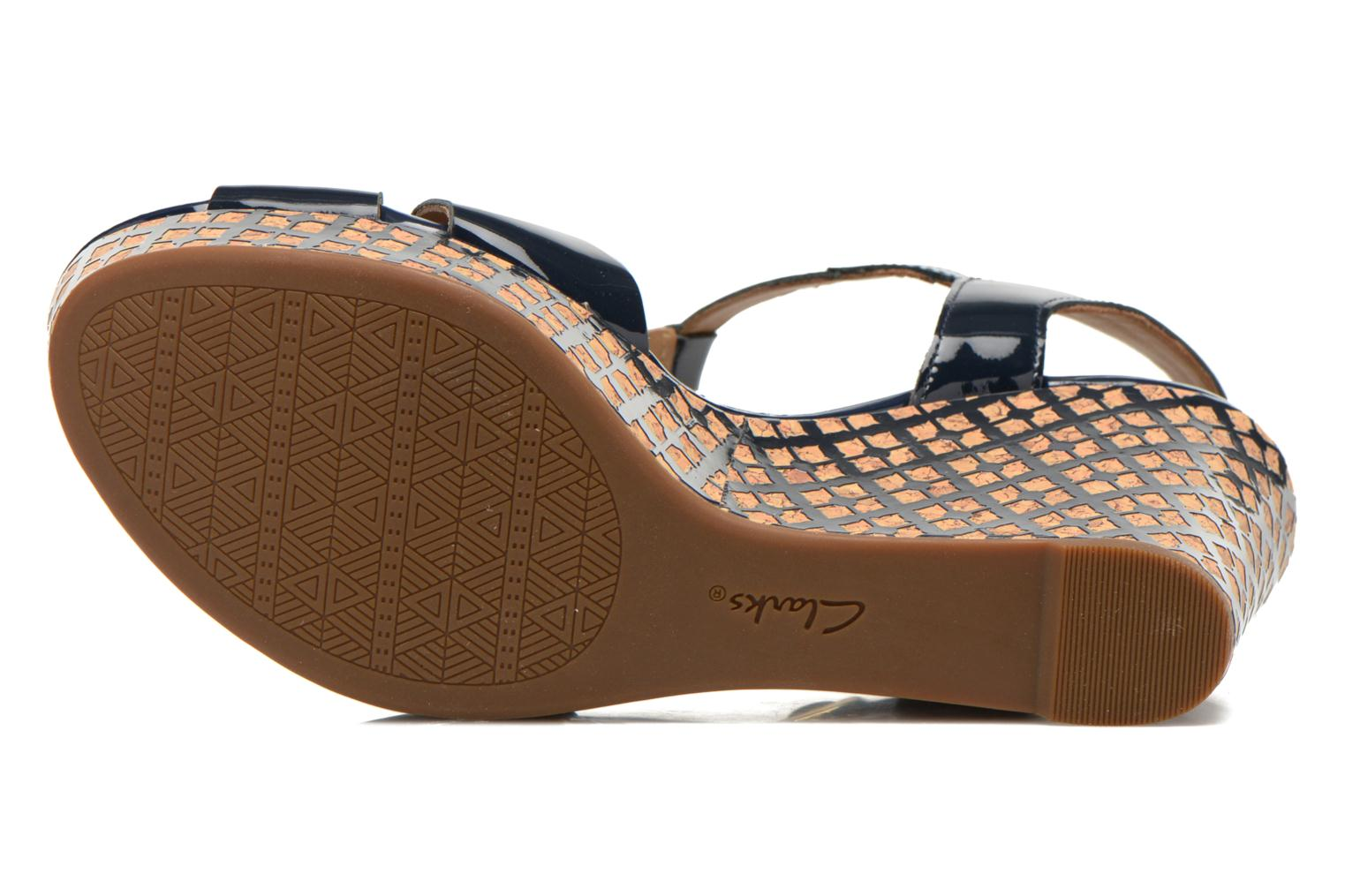 Sandals Clarks Amelia Roma Blue view from above