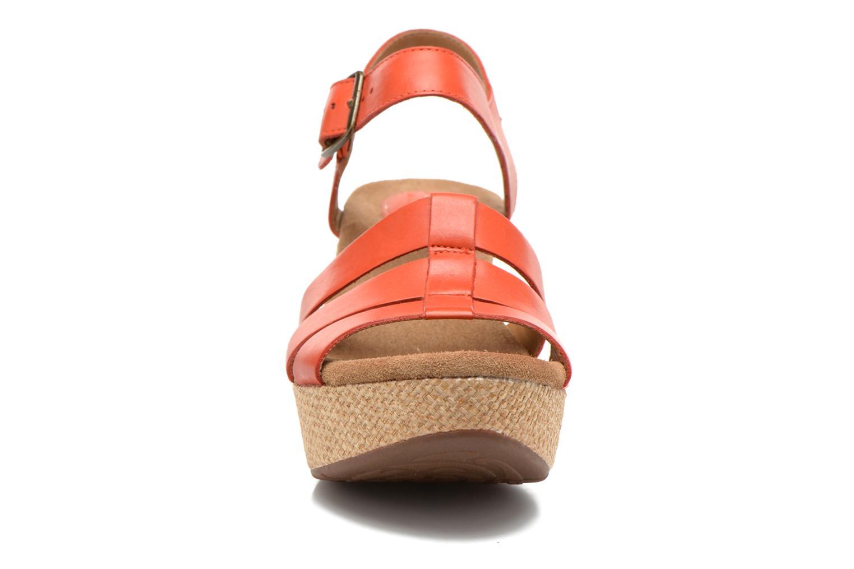 Sandales et nu-pieds Clarks Caslynn Harp Orange vue portées chaussures