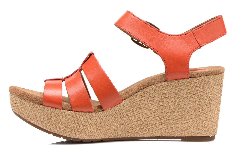 Sandales et nu-pieds Clarks Caslynn Harp Orange vue face