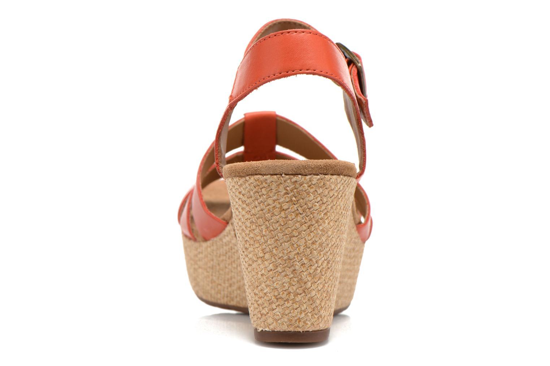 Sandales et nu-pieds Clarks Caslynn Harp Orange vue droite