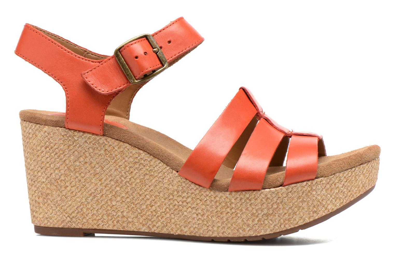 Sandales et nu-pieds Clarks Caslynn Harp Orange vue derrière