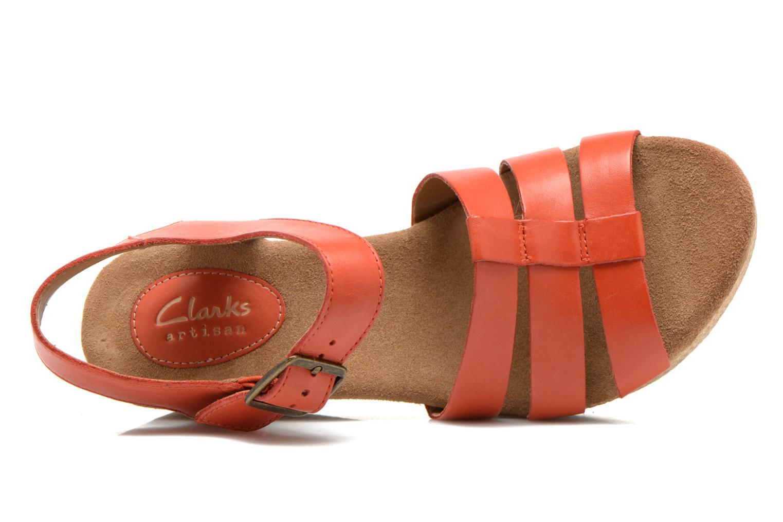 Sandales et nu-pieds Clarks Caslynn Harp Orange vue gauche