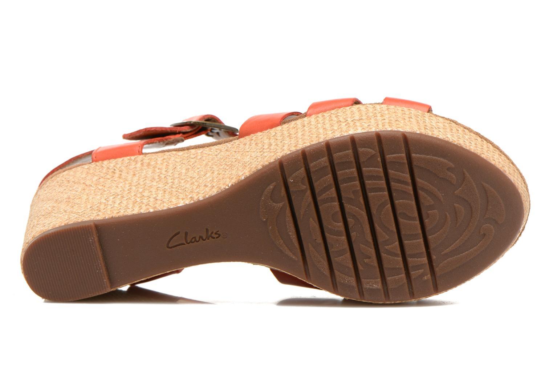 Sandales et nu-pieds Clarks Caslynn Harp Orange vue haut