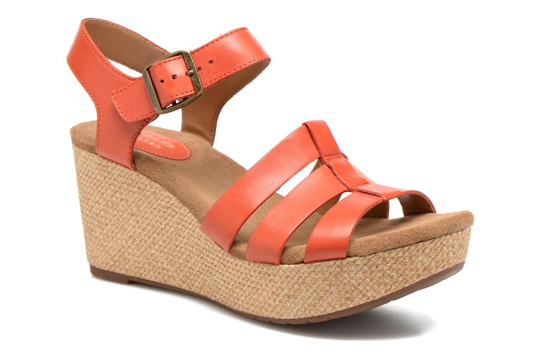 Sandales et nu-pieds Clarks Caslynn Harp Orange vue détail/paire