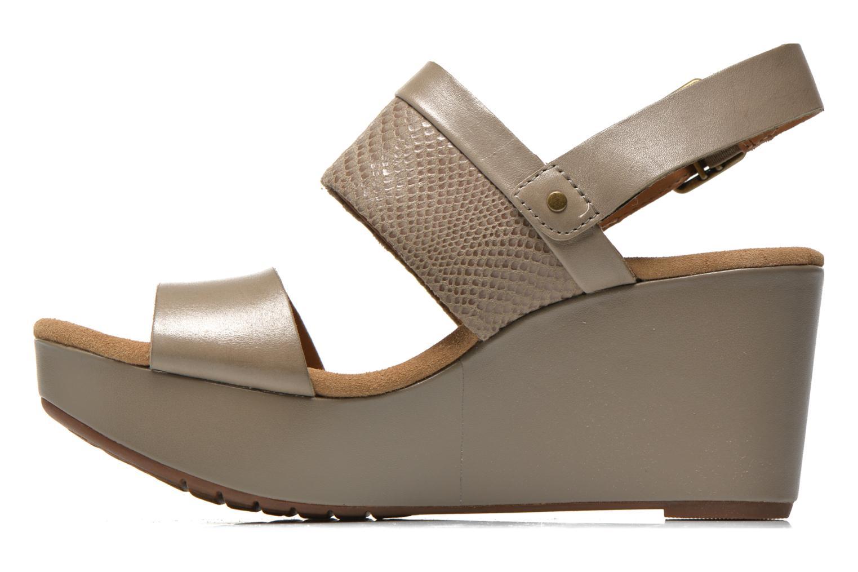 Sandales et nu-pieds Clarks Caslynn Kat Beige vue face