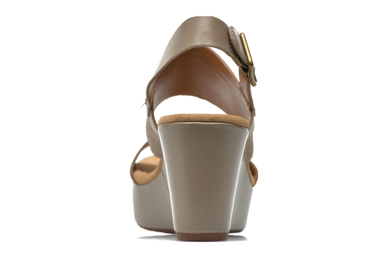 Sandali e scarpe aperte Clarks Caslynn Kat Beige immagine destra