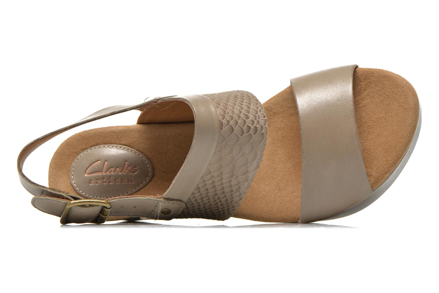 Sandals Clarks Caslynn Kat Beige view from the left