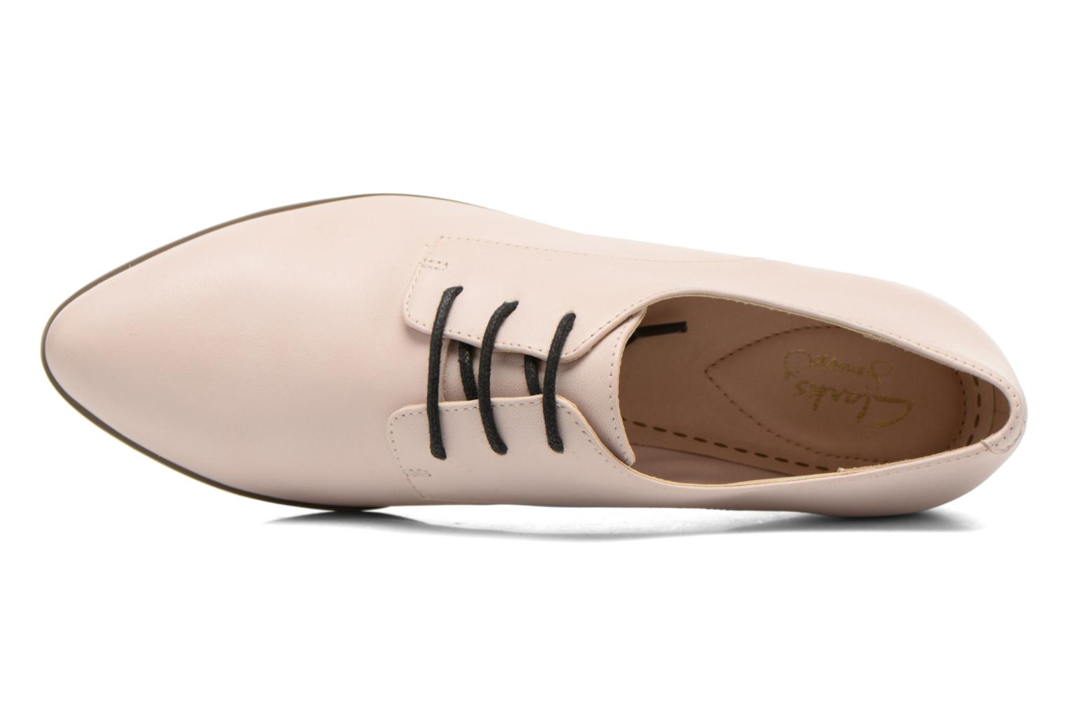 Lace-up shoes Clarks Cressida Grace Pink view from the left