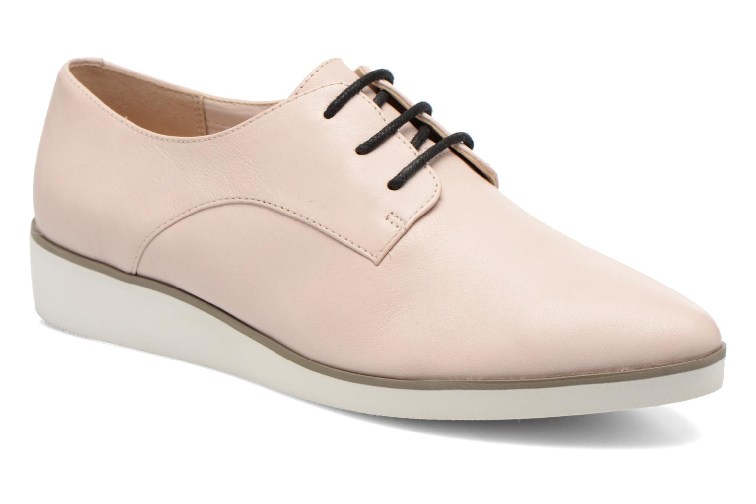 Lace-up shoes Clarks Cressida Grace Pink detailed view/ Pair view