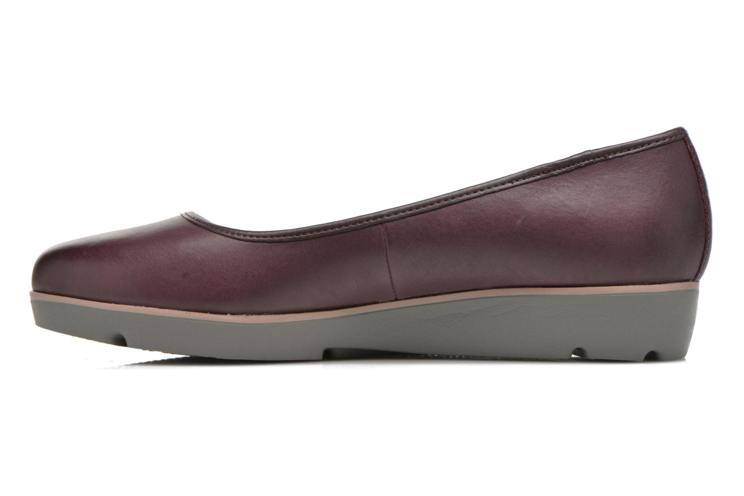 Ballet pumps Clarks Evie Buzz Burgundy front view