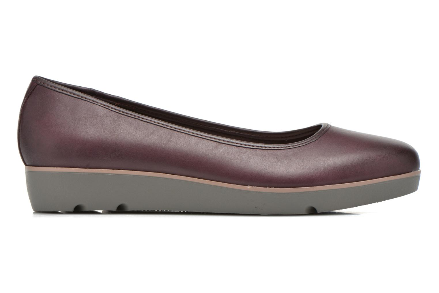 Ballet pumps Clarks Evie Buzz Burgundy back view