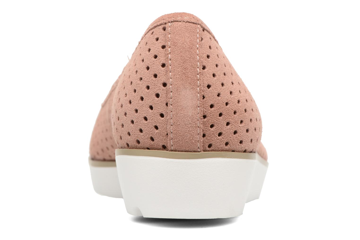 Ballet pumps Clarks Evie Buzz Pink view from the right