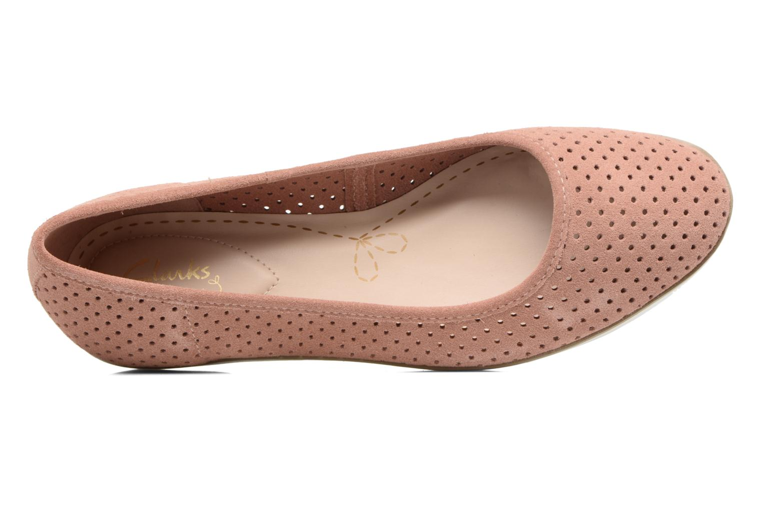 Ballet pumps Clarks Evie Buzz Pink view from the left