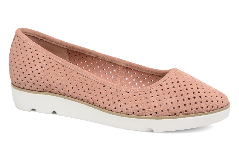 Ballerinaer Clarks Evie Buzz Pink detaljeret billede af skoene