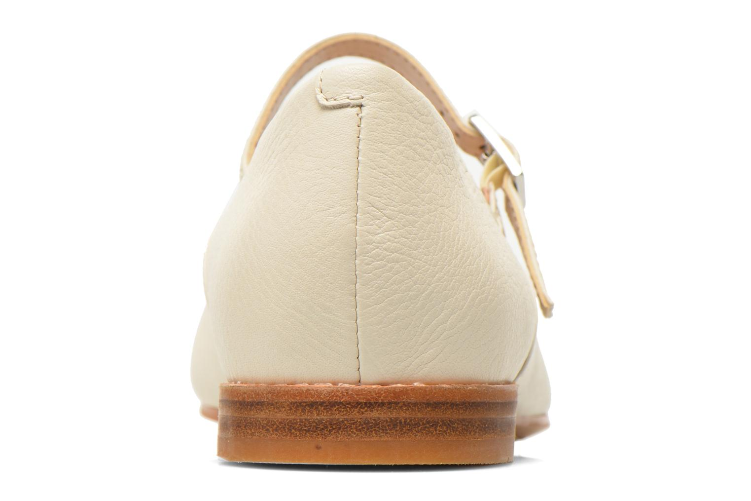 Ballet pumps Clarks Festival Glory Beige view from the right