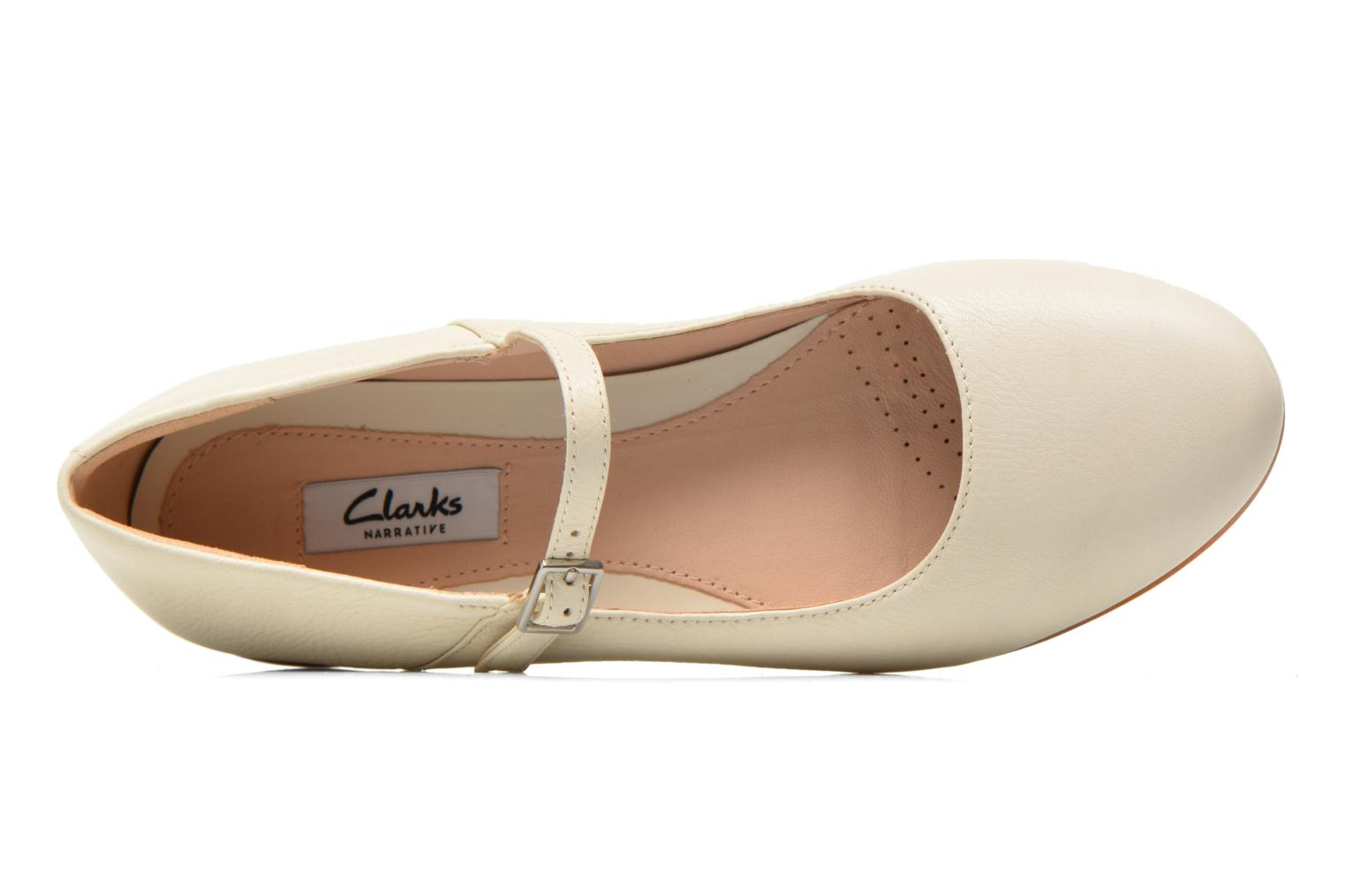 Ballet pumps Clarks Festival Glory Beige view from the left