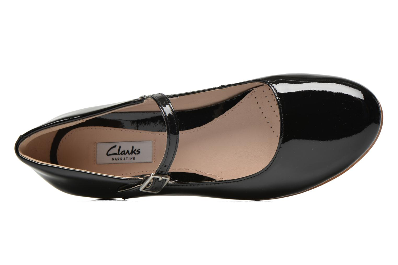 Ballerinas Clarks Festival Glory schwarz ansicht von links