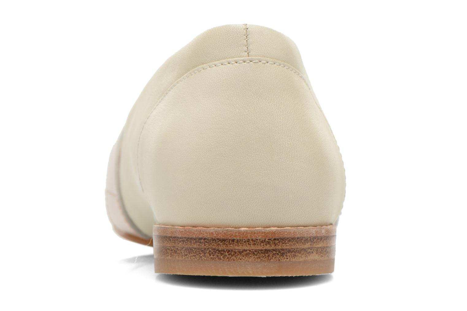 Loafers Clarks Festival Grace Beige view from the right