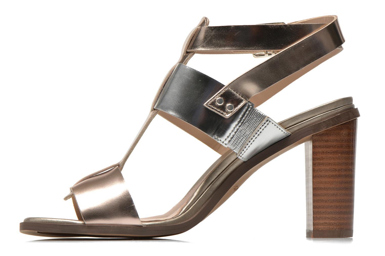 Sandales et nu-pieds Clarks Image Crush Argent vue face