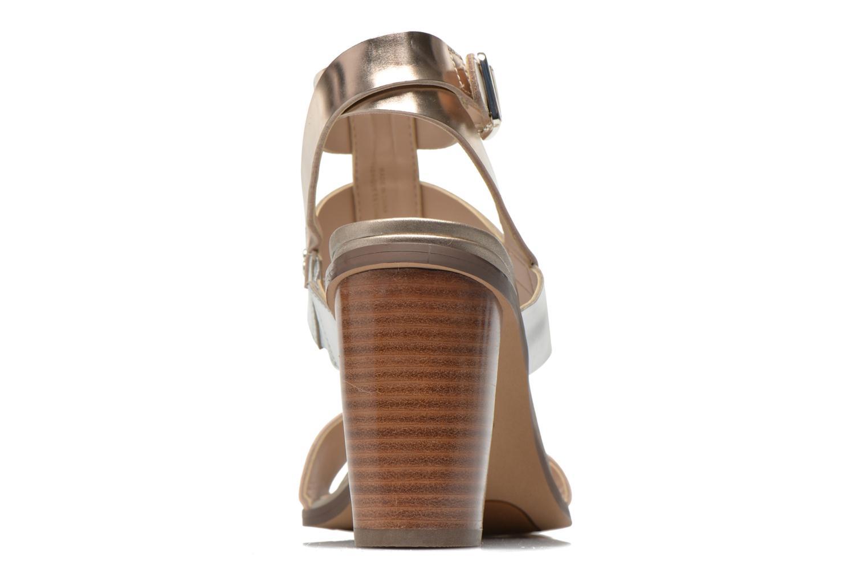Sandales et nu-pieds Clarks Image Crush Argent vue droite