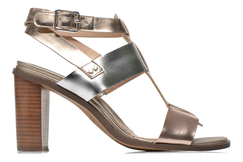 Sandales et nu-pieds Clarks Image Crush Argent vue derrière