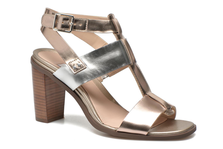 Sandales et nu-pieds Clarks Image Crush Argent vue détail/paire