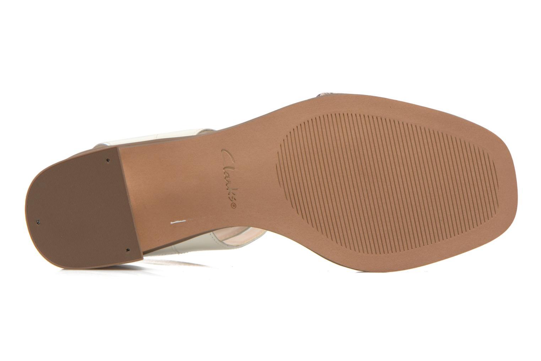 Sandales et nu-pieds Clarks Ivangelie Ray Blanc vue haut