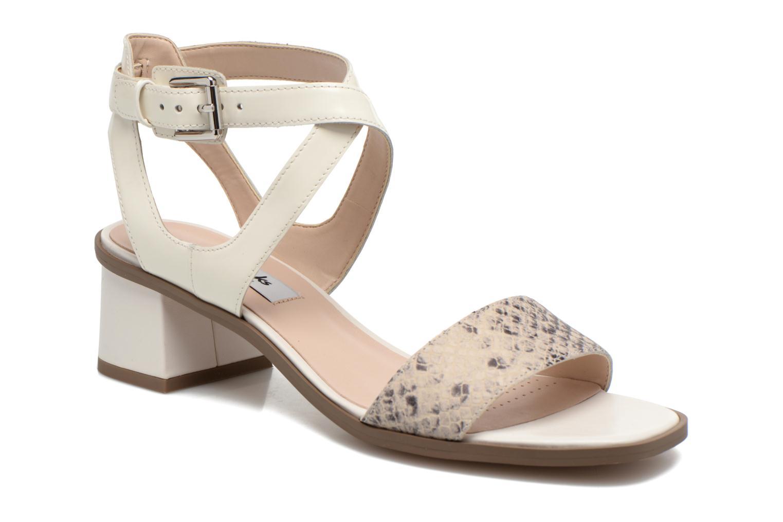 Sandaler Clarks Ivangelie Ray Hvid detaljeret billede af skoene
