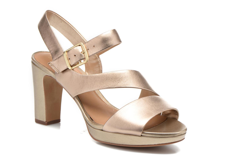 Sandaler Clarks Jenness Soothe Guld og bronze detaljeret billede af skoene