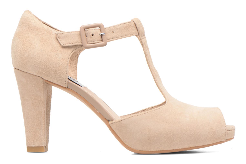 Zapatos de tacón Clarks Kendra Flower Beige vistra trasera