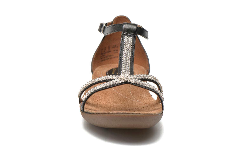 Sandales et nu-pieds Clarks Raffi Star Noir vue portées chaussures