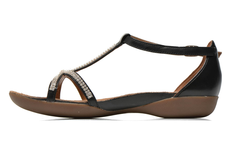 Sandales et nu-pieds Clarks Raffi Star Noir vue face