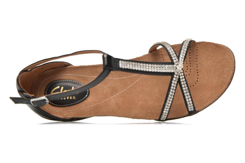Sandales et nu-pieds Clarks Raffi Star Noir vue gauche