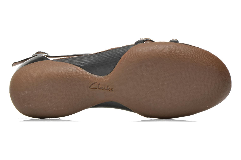 Sandales et nu-pieds Clarks Raffi Star Noir vue haut