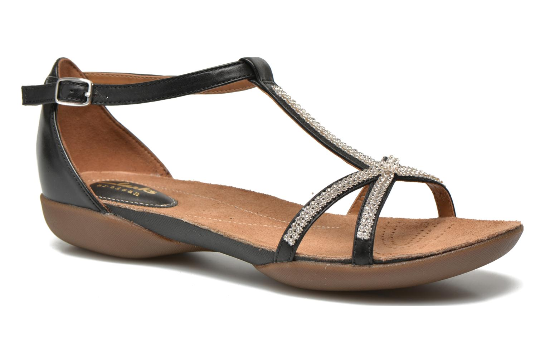 Sandales et nu-pieds Clarks Raffi Star Noir vue détail/paire