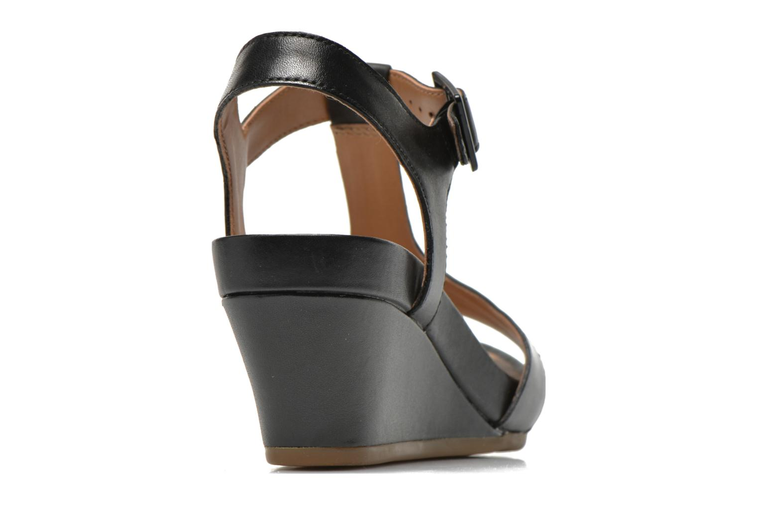 Sandals Clarks Rusty Rebel Black view from the right