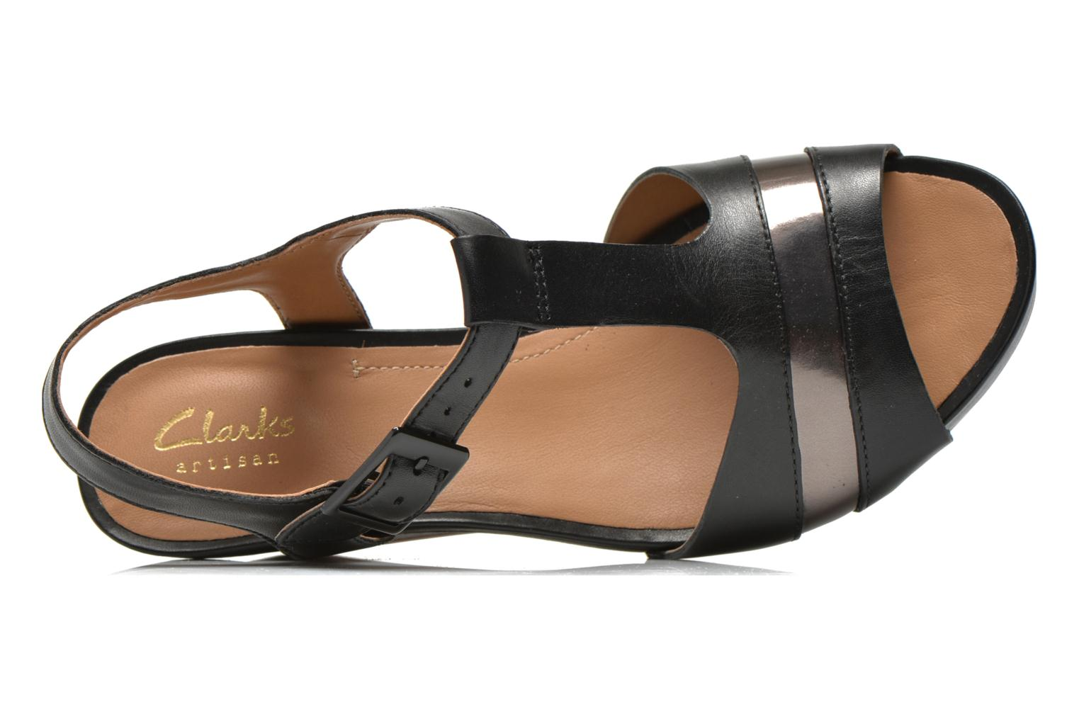 Sandals Clarks Rusty Rebel Black view from the left