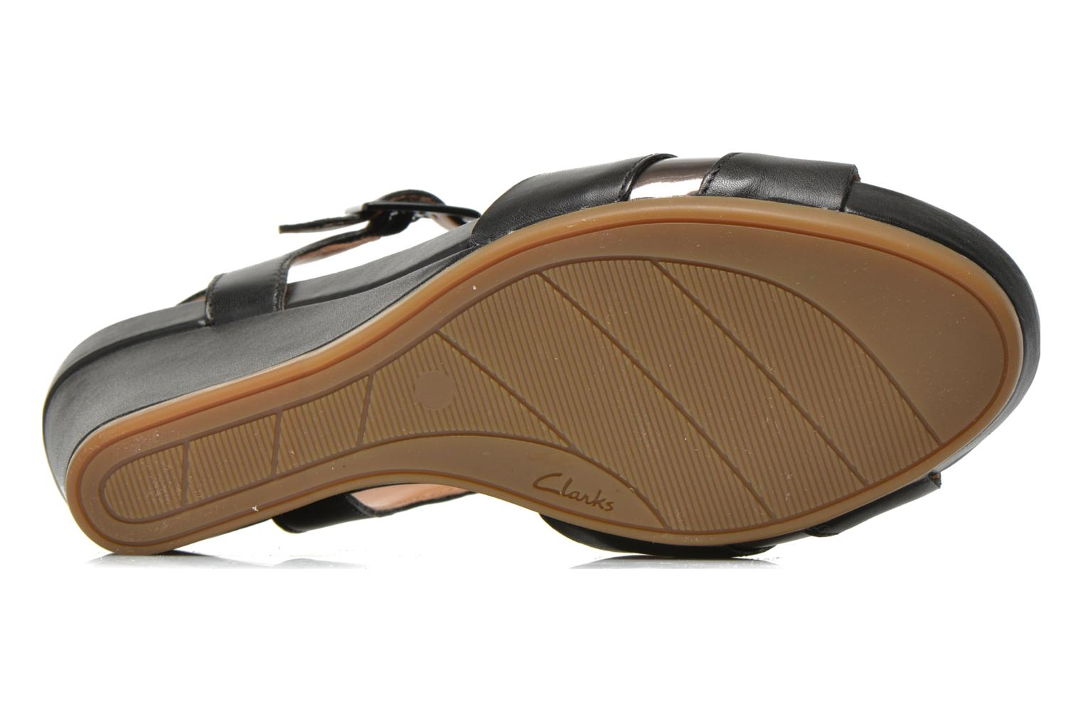 Sandals Clarks Rusty Rebel Black view from above