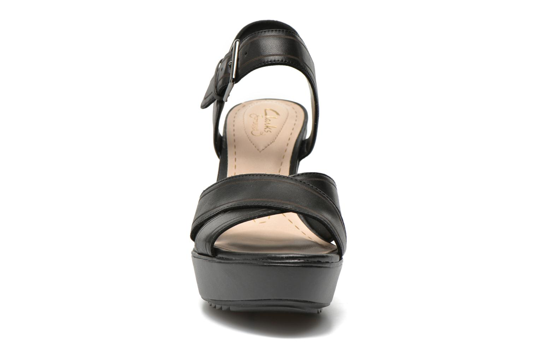 Sandalen Clarks Scent Sky schwarz schuhe getragen