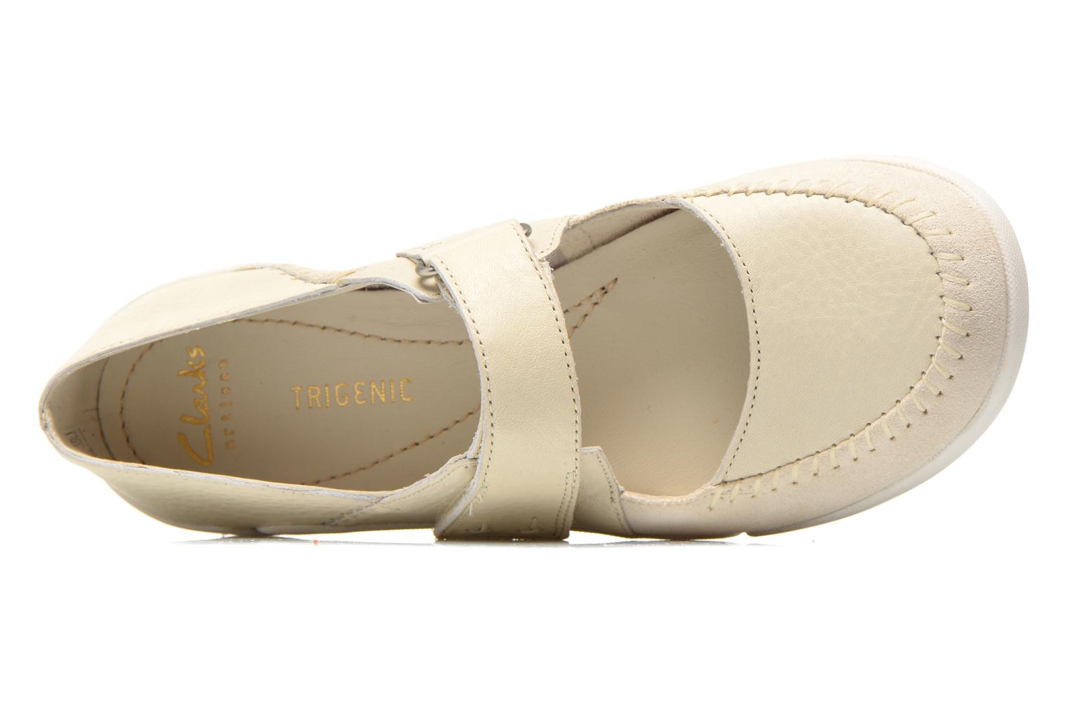 Ballet pumps Clarks Tri Amanda White view from the left