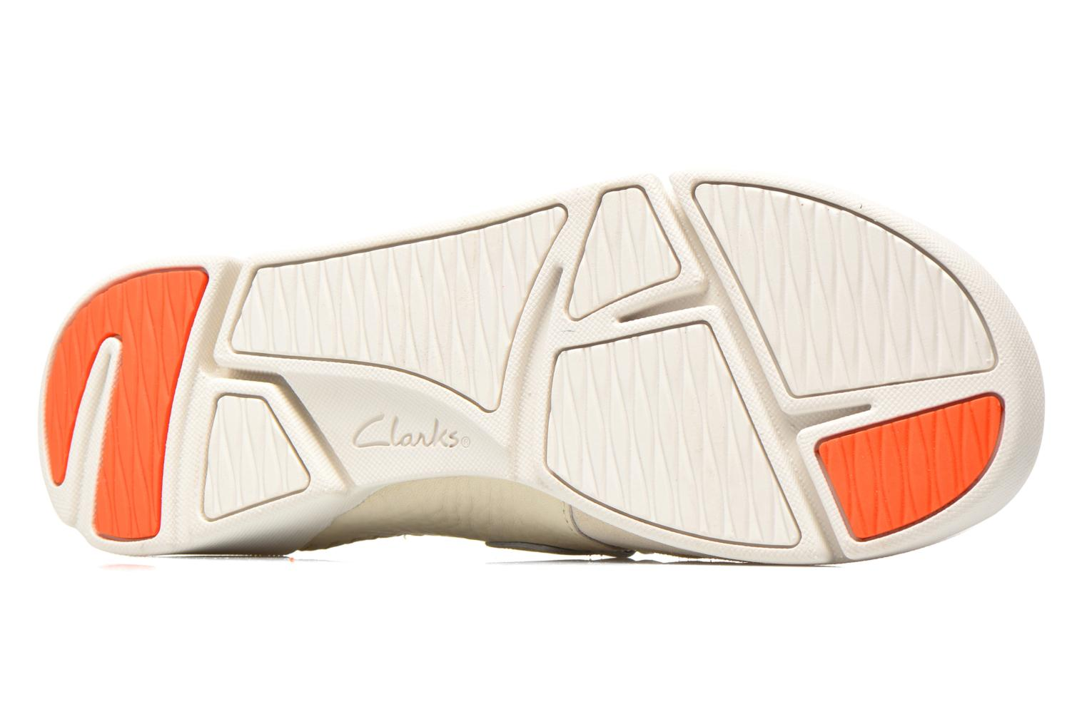 Ballet pumps Clarks Tri Amanda White view from above